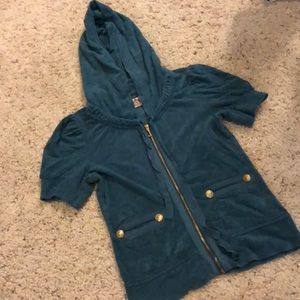 Short sleeve women's juicy zip up jacket.